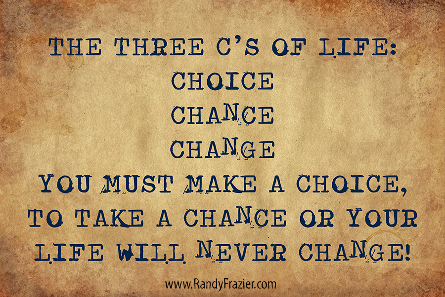 The Three Cs of Life