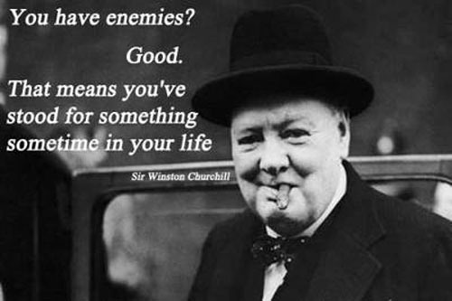 Picture Winston Churchill Quo: The Leadership Takes Courage Principle