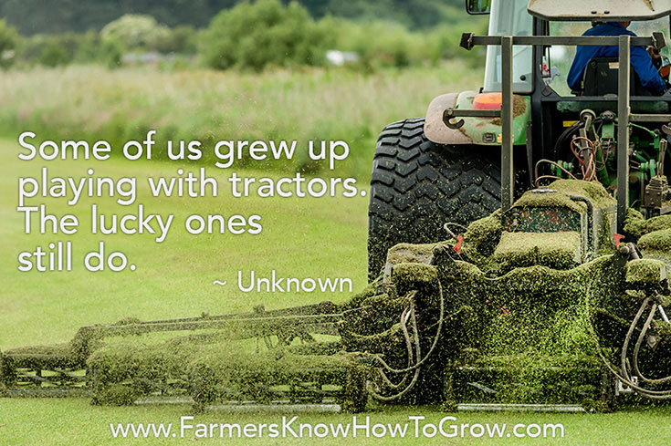 Playing with Tractors Quote