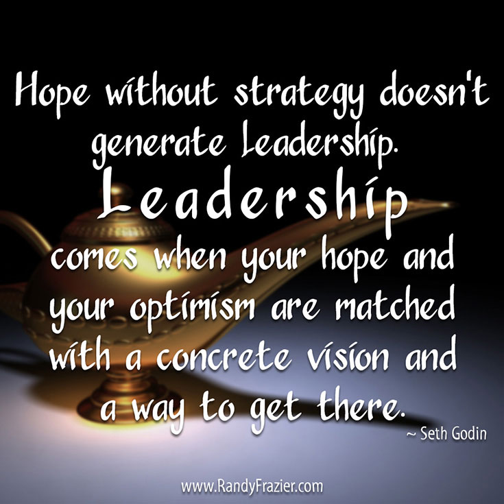 Seth Godin Quote about Hope and Strategy