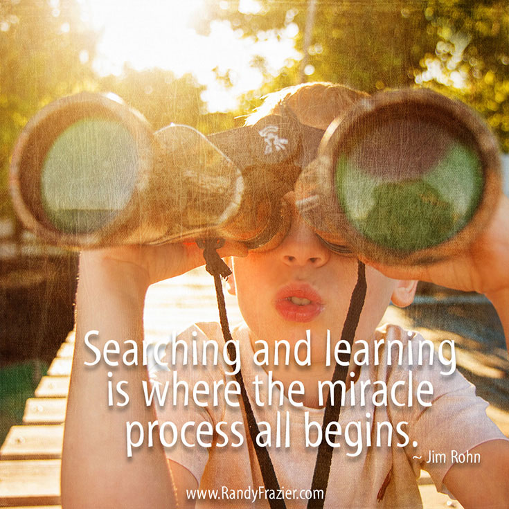 Jim Rohn Quote about Searching