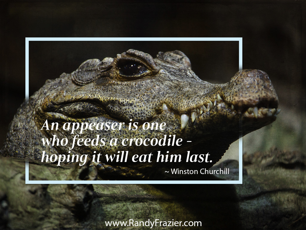 Winston Churchill Quote about Appeasers