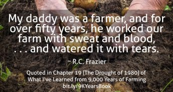 My Daddy was a Farmer quote