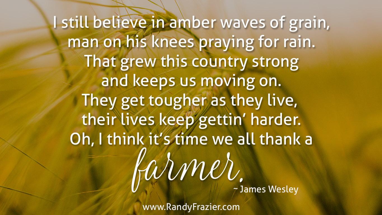 Thank a Farmer Quote