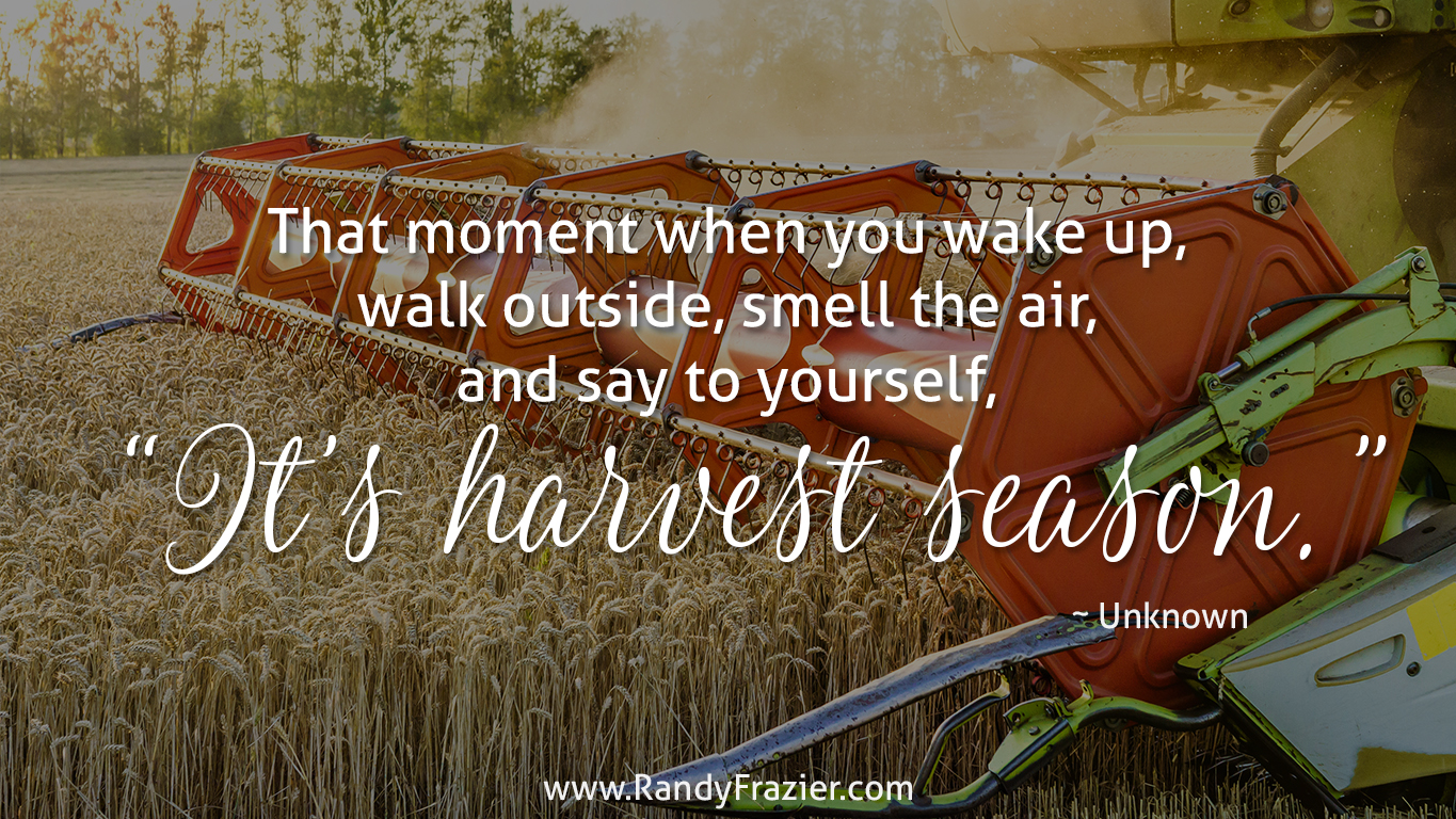 Quote about Harvest