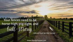 Advice from an Old Farmer