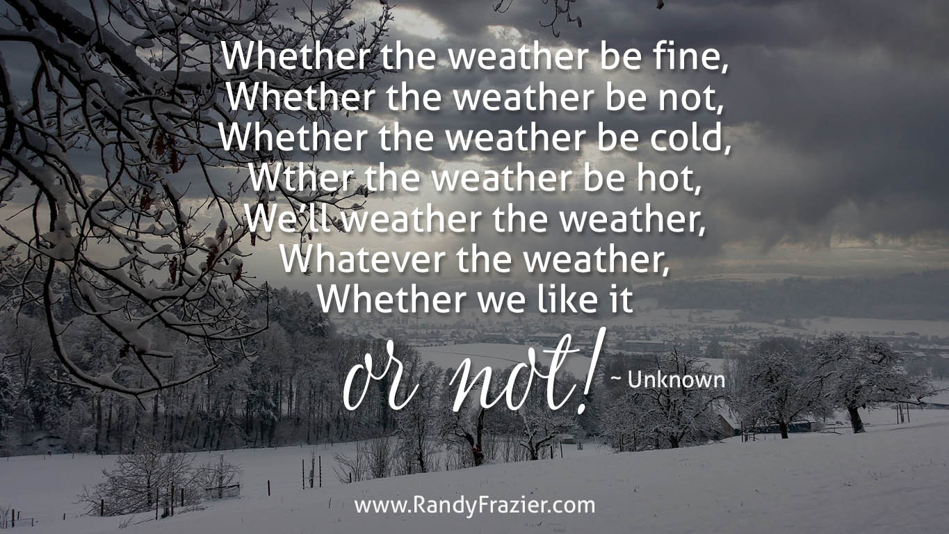 Nursery Rhyme about Weather